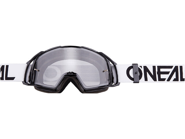 O'Neal B-20 Lunettes de protection, flat black/white-clear